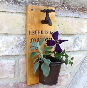 Das Bild Wird Geladen Wandpflanzer Wasserhahn Wand Blumentopf Garten  Deko Pflanzkuebel Geschenk