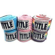"Title Boxing 180/"" Semi Elastic Mexican Handwraps Rainbow"