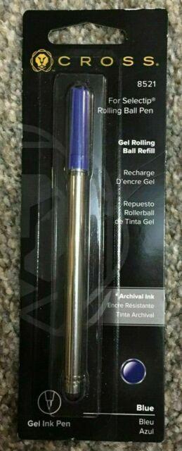 Cross Selectip Gel Rolling Ball Pen Refill, Blue - 1 Per Card ( 8521 )