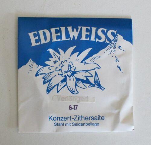 """Edelweiss /""""KONZERT-ZITHERSAITE G-17 /"""""""