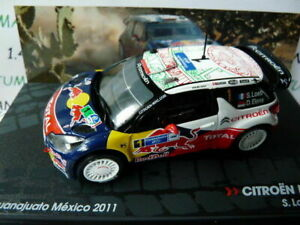 RIT85G-voiture-1-43-IXO-Altaya-Rallye-CITROEN-DS3-WRC-LOEB-2011-Mexico