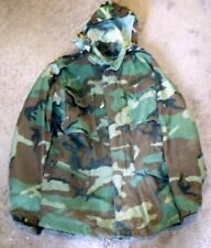 Vintage US Army Military Cold Weather Camouflage Field Jacket Sz Small Long