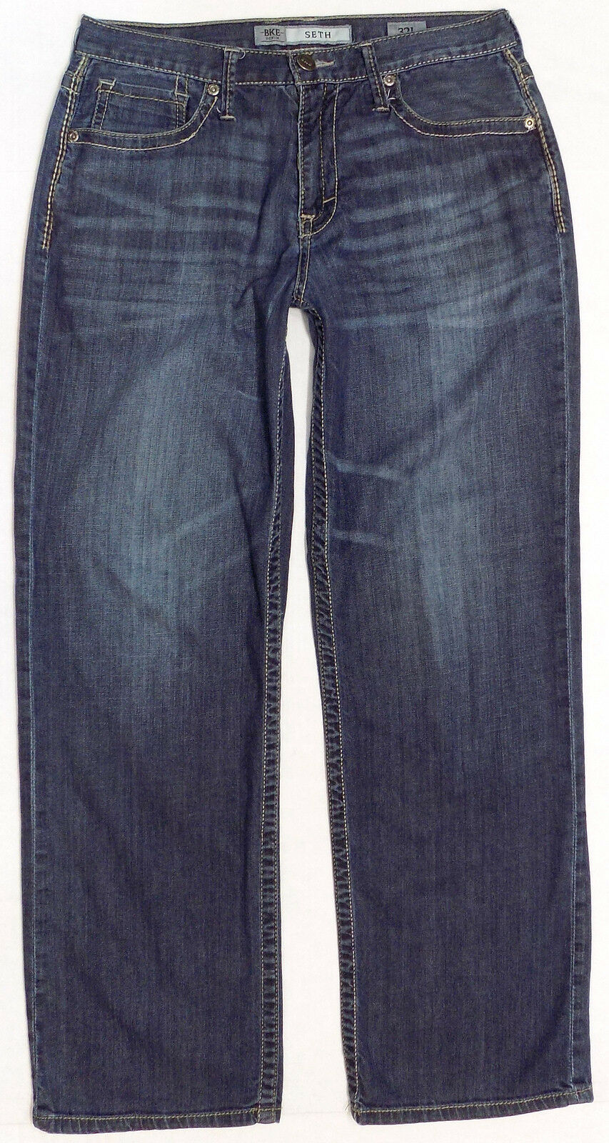 BKE Denim Seth Loose Fit Straight Leg Jeans Mens Size 32 x 32