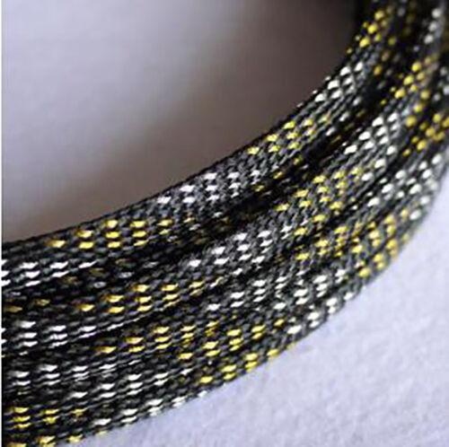 Ø4mm Geflechtschlauch Gewebeschlauch Kabelschlauch PET Sleeve Mehrere Farben