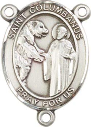 Sterling Argent Notre Dame de toutes les nations Rosaire Centerpiece médaille 3//4 Pouces