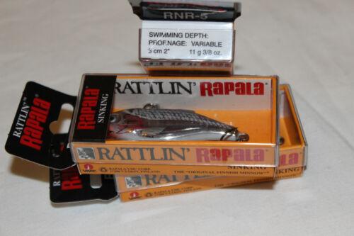 2 x Rapala Rattlin-S-Silver-SINKING Austerity-NUOVO