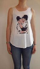 Banksy Kissing Cops Graffiti T-Shirt Vest Tank Top Ladies Girl Kissing Policemen