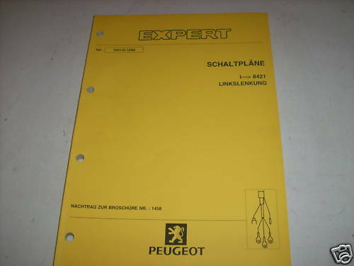 Workshop Manual Peugeot Expert Wiring Diagrams  Piece 1999