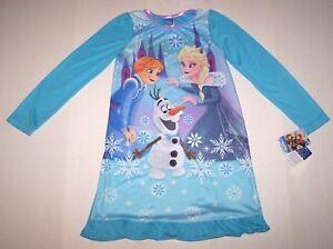 5313f1326 Nwt New Disney Frozen Princess Elsa Ana Olaf Nightgown Pajamas ...