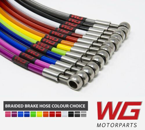 WG Rear Braided Brake Hose Kit for Peugeot 106 1.3 RALLYE Models 1994-96