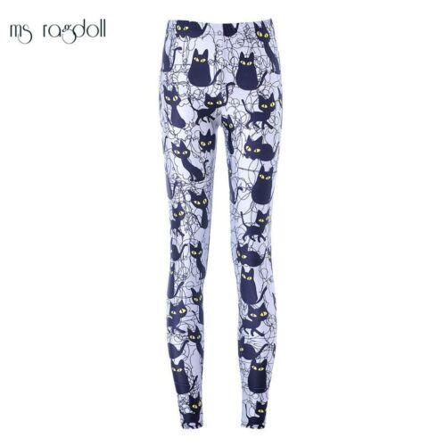 Leggings Cat Printing Pants Gym Workout Running MsRagdoll Women Seamless Trouser