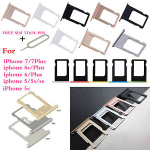 iphone 5c sim card slot replacement apple nano sim card tray slot holder part for 17438