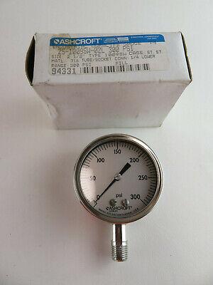 "ASHCROFT 8936 3.5/"" Industrial Duralife Gauge 3-15 PSI"