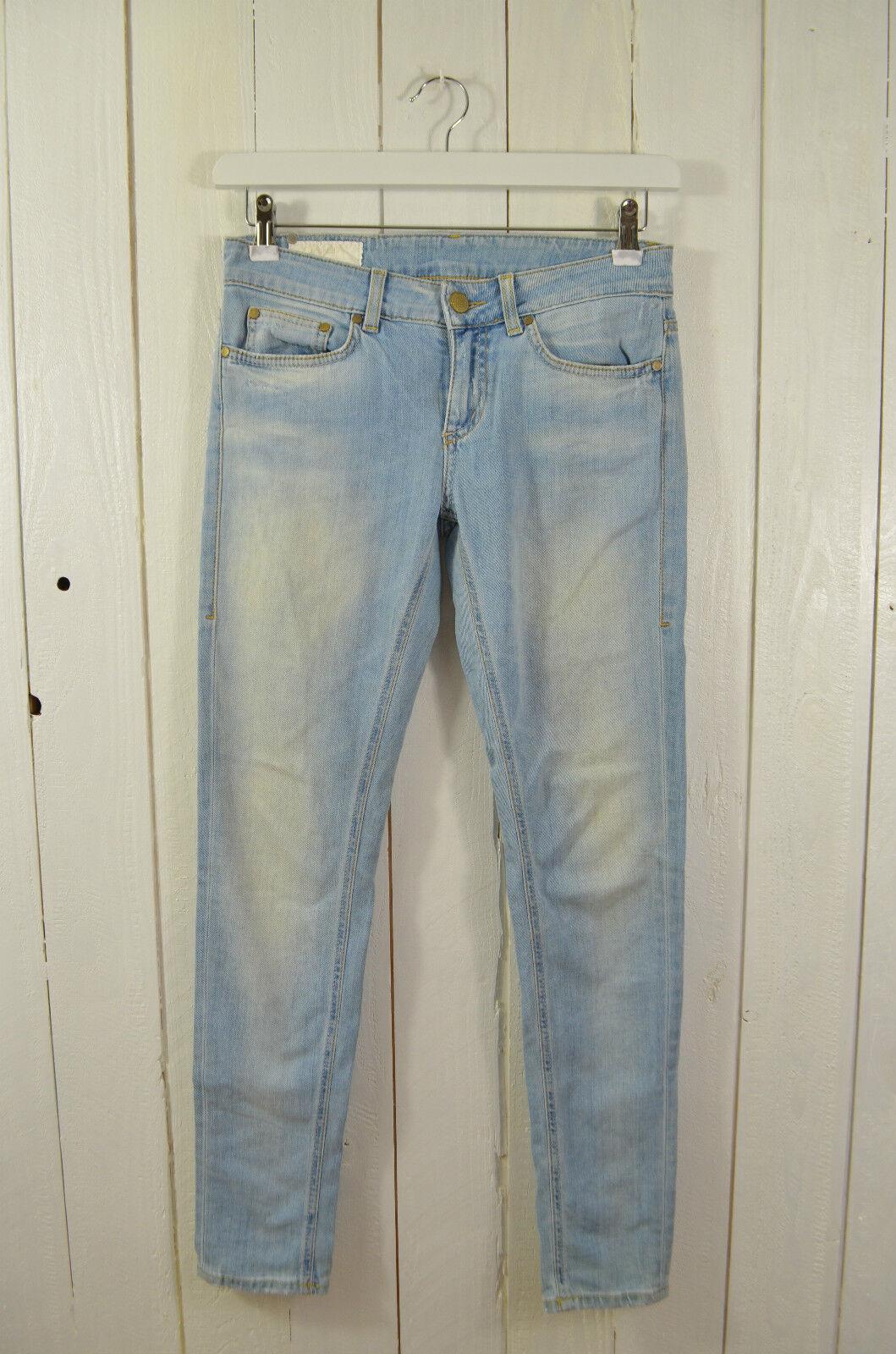 DUNDOP Jeans Damen Jeans Schmal Mod.Longleg Waschung schwarzjacks Hellblau Gr.28