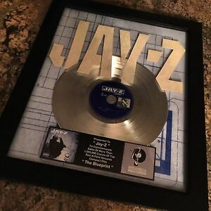 Jay z blueprint platinum record disc album music award mtv grammy image is loading jay z blueprint platinum record disc album music malvernweather Image collections