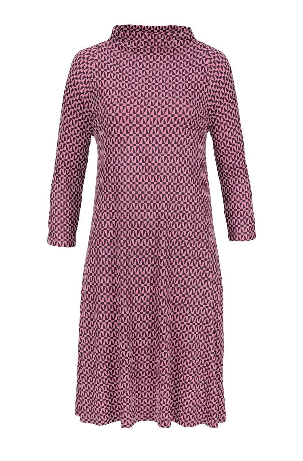 DANIEL HECHTER Designer Jerseykleid lachs marine Gr 34 bis 44