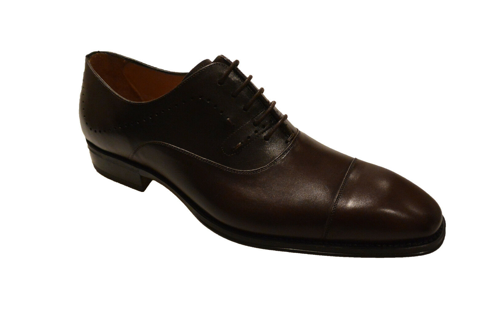 NIB Mens Mezlan 6368 Fermo Leather Lace Up Dress shoes in Dark Brown