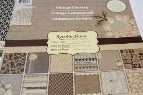 """Paper Pads 12/""""X12/""""  Scrapbooking Craft Smith DCWV Recollections Paper Craft"""