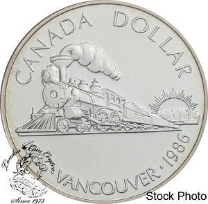 Canada 1986 $1 Vancouver Centennial BU Silver Dollar Coin -Capsule Only