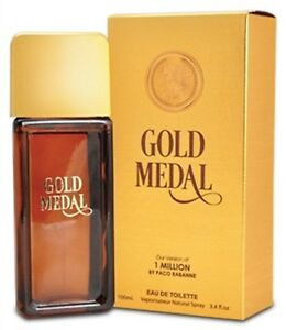 ac6e7e605d99 Gold Medal Perfume fo Men by Mirage 3.4 oz, Inspired by 1 MILLION BY ...