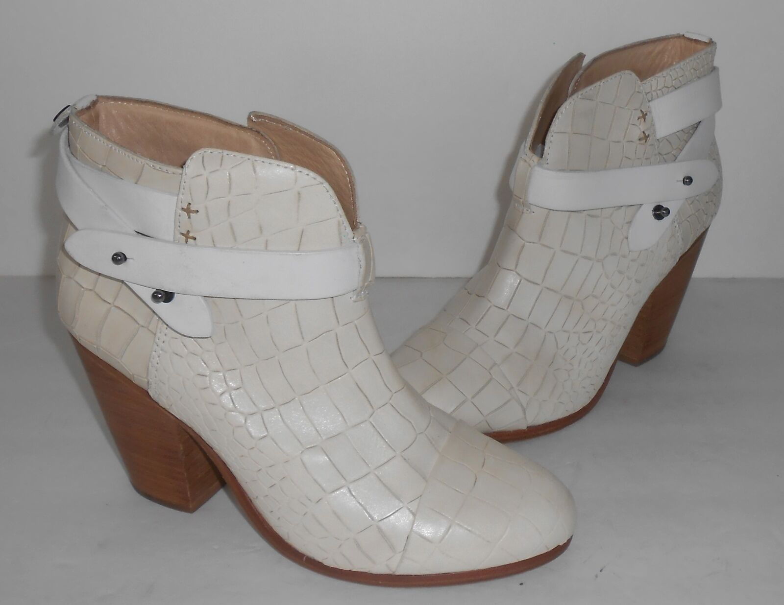 marchio famoso Rag Rag Rag & Bone bianca Harrow Ankle stivali Sz 38  disponibile