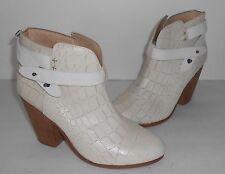 Rag & Bone White Harrow Ankle Boots Sz 38