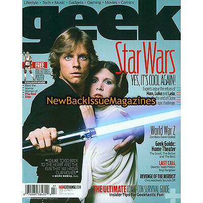 Geek 7/13,Mark Hamill,Carrie Fisher,July 2013,NEW