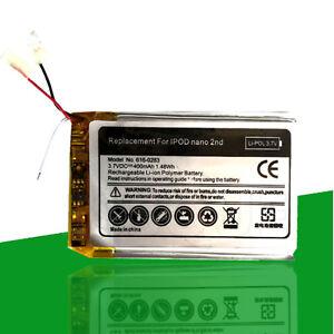 Akku-400-mAh-fur-iPod-Nano-2G-2-Generation-A1199-APN-616-0283-616-0270-Batterie
