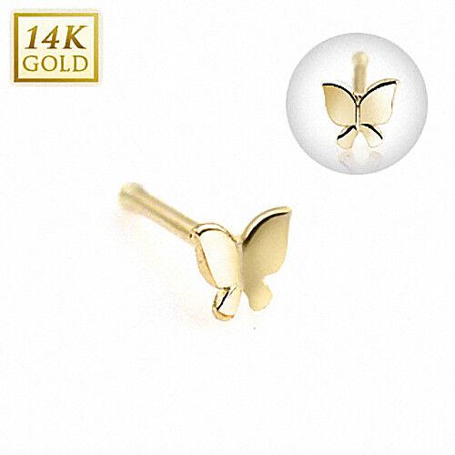 Piercing real 585 Gold 14 quilates motivo nasenstecker nariz joyas piercing