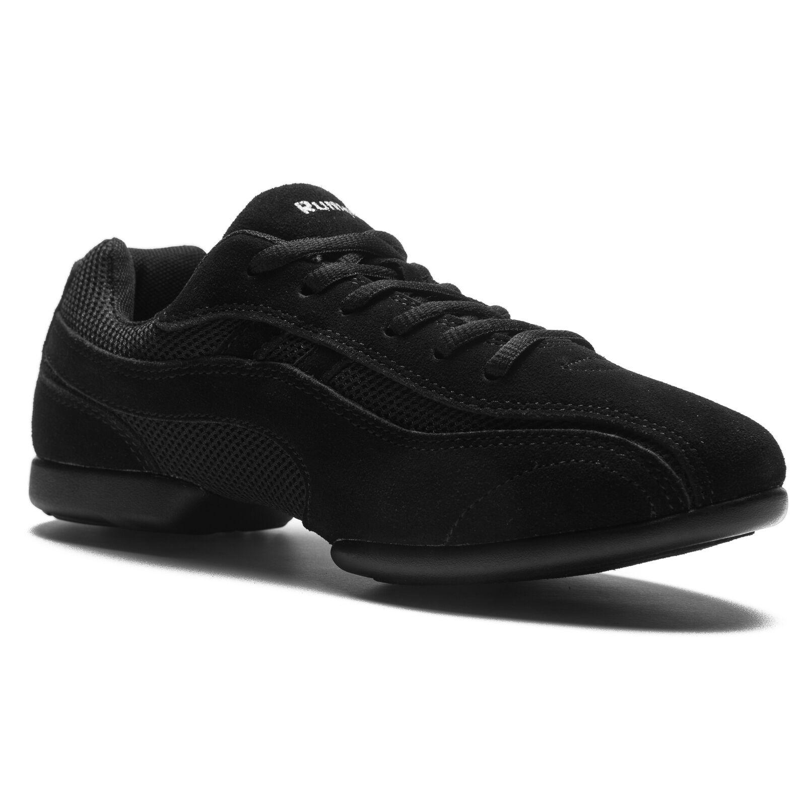Rumpf 1592 Jive Tanz Dance Sport Turnschuhe Hip Lindy Hop Trainings Schuhe schwarz
