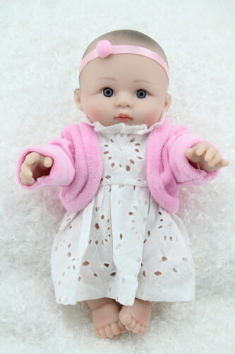 "NPKDOLL Dolly Girl Kids Toy Lifelike Vinyl Silicone Reborn Baby 10/"" Handmade"