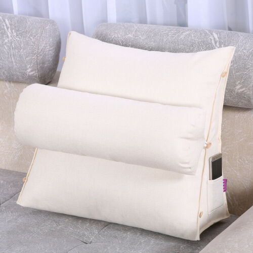 Adjustable Sofa Bed Chair Rest Back Support Wedge Cushion Pillow Lumbar Pillow