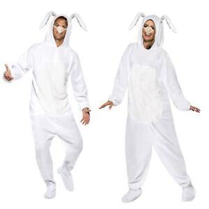 bonne réputation qualité stable 100% d'origine Détails sur Adulte Homme Femme Blanc Lapin De Pâques Lapin Printemps  Combinaison Costume Robe Fantaisie- afficher le titre d'origine