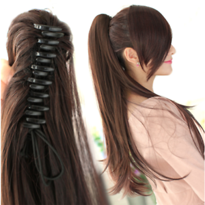 15-26-034-Claw-Jaw-Clip-Ponytail-Human-Hair-piece-100-Human-Remy-Hair-Extension