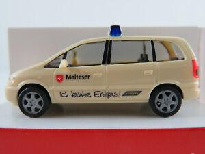Herpa-046626-Opel-Zafira-2002-034-malteses-mettman-034-en-color-beige-claro-1-87-h0-nuevo-en-el