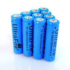 10pcs 18650 Battery 3.7v Li-ion 5000mAh Blue Rechargeable Batteries From USA