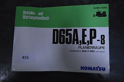 E P-8 Planierraupe Und Wartungshandbuch Für D65a Dynamisch B455 Komatsu Betriebs