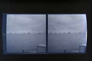 Flotta-Inglese-A-Portsmouth-UK-Francia-2-Foto-Stereo-Negativi-Su-Film-Morbido