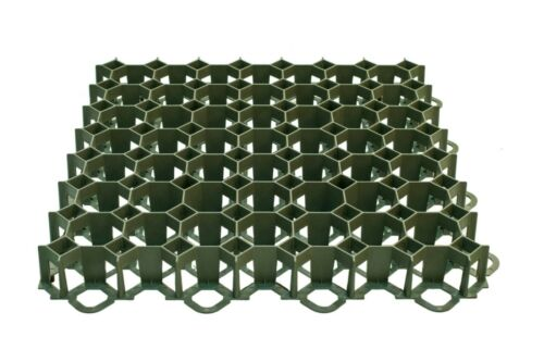 Pack of 20 pieces parking spaces x plastic grids for grass aggregate 5 m2
