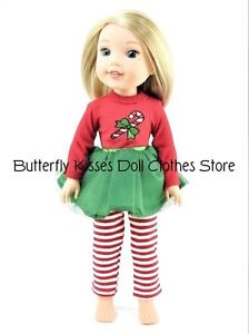 "Owl /& Flower Legging 14/"" Doll Clothes Fit American Girl Wellie Wishers"