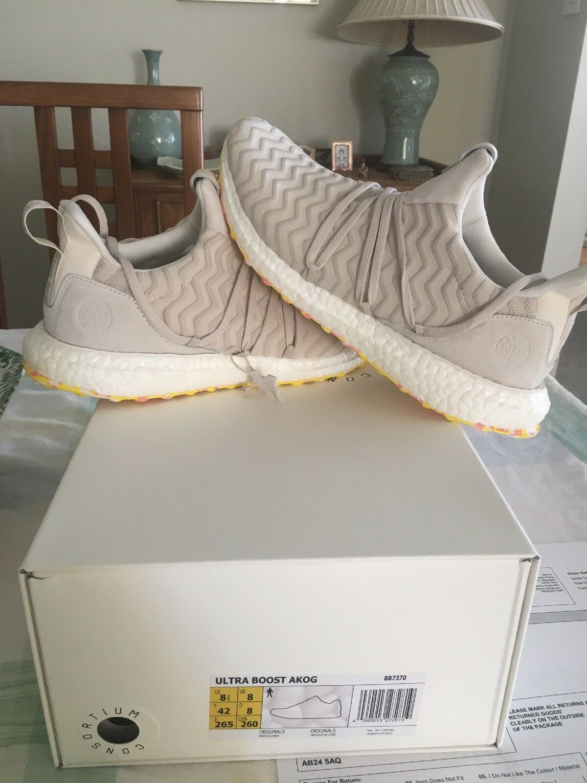 A Kind Of Guise x Adidas Ultra Boost Consortium Sz 8.5 US Sz 8 UK AKOG In Hand