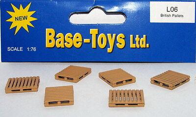 B-t Models L06 - 6 X British Pallets - 1/76 Scale = 00 Gauge - 1st Class Post Fornire Servizi Per Le Persone; Rendere La Vita Più Facile Per La Popolazione