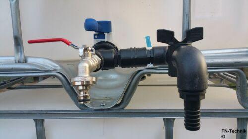 Gardena komp IBC Adapter DN 50 2-fach Auslaufhahn Schlauchtülle Anschluss