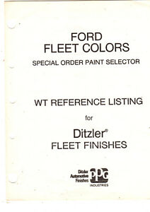 Details about 1970'S ORIGINAL FORD TRUCK DITZLER FLEET COLORS SPECIAL PAINT  WT REFERENCE 2