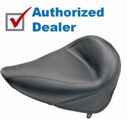 Brand New Mustang Vintage Solo Seat Plain Black 2000-2006 Harley Softail 75086