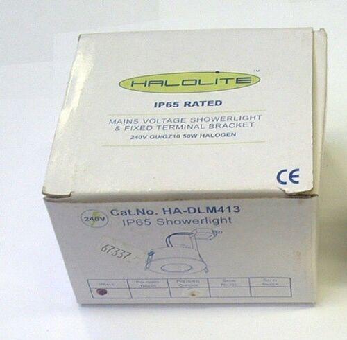 Halolite HA-DLM413 240V GU10 Fixed Mains Voltage Showerlight Polished Brass