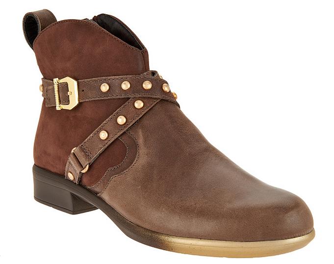 prezzo all'ingrosso e qualità affidabile Naot Leather Ankle stivali w  Stud Details - Taku Taku Taku Vintage Fog EU42 US 11 New  tempo libero