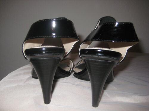 élastique Calvin Alise femmes E8164 sandales M noires brevetées 787934819204 10 chaussures Klein nouvelles Nwb TwqArxX4T