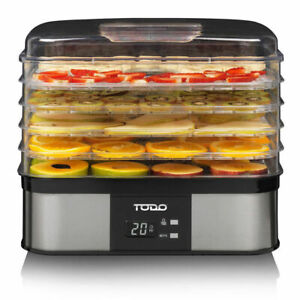 TODO 250W Stainless Steel Food Dehydrator Preserve Yogurt Fruit Dryer Jerky M...
