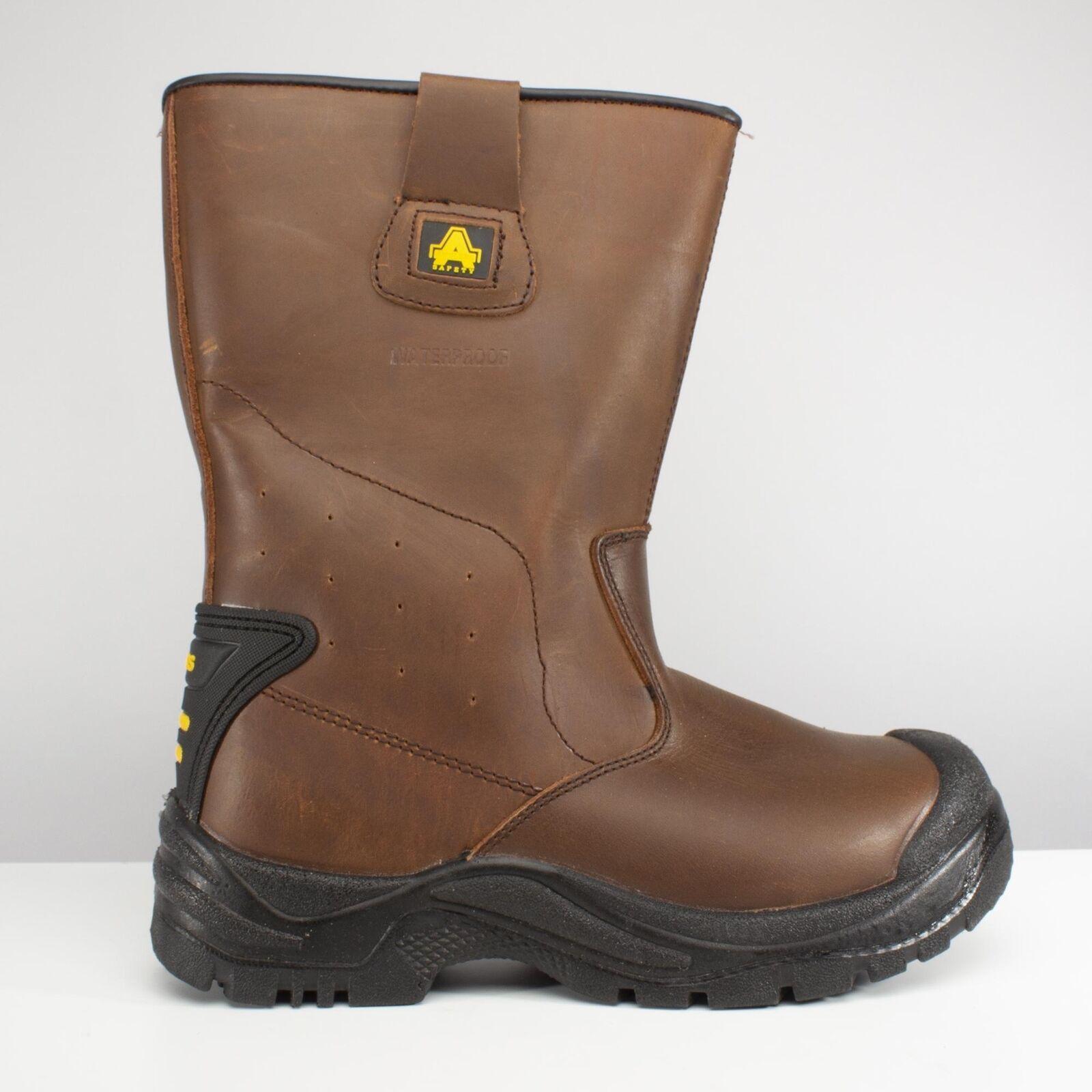 Amblers Safety AS249 Cadair Unisex para Hombre Damas Rigger botas De Seguridad S3 Marrón